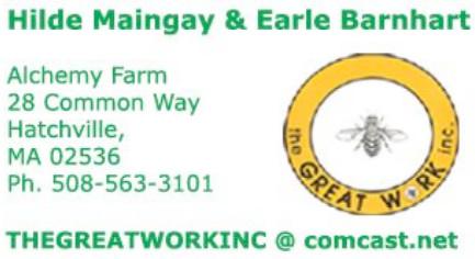 cape cod bioshelter - hilde maingay earle barnhart alchemy farm hatchville MA 02536 comcast.net