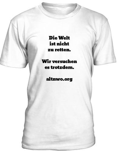t-shirt die welt ist nicht zu retten