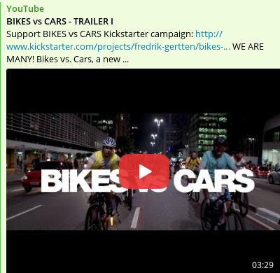 Bikes vs Cars youtube cover