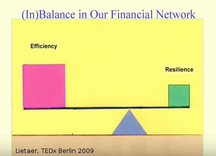 Lietaer - Efficiency vs Resiliance - TEDx 2009