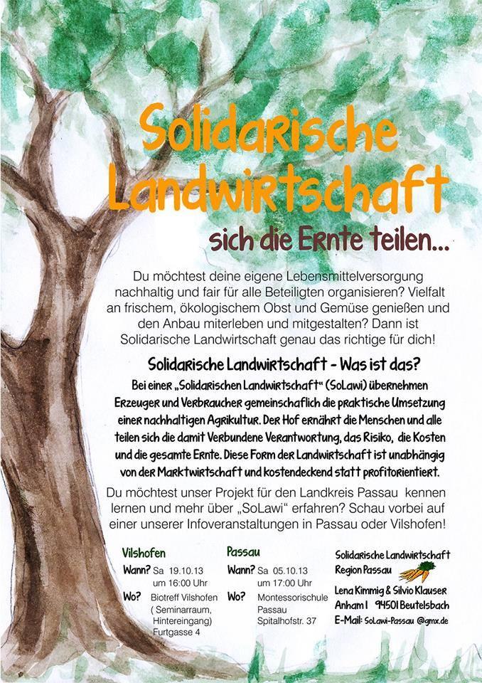 solidarische Landwirtschaft - erklär Plakat