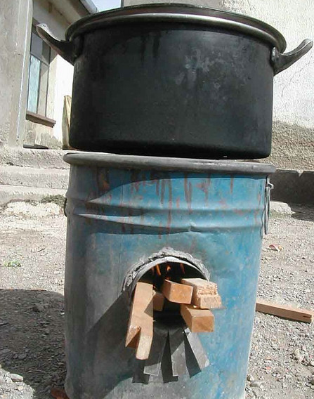 Rocket Stove Example Barrell