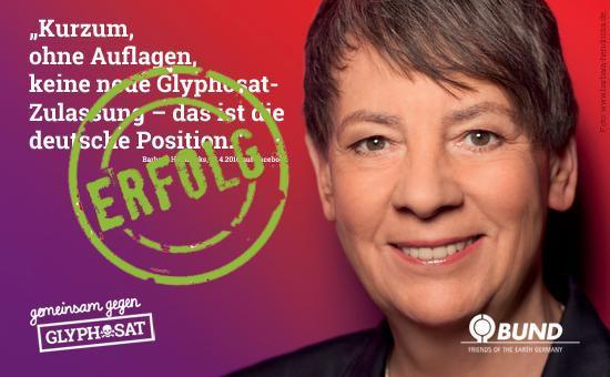 Barbara Hendricks SPD Glyphosat