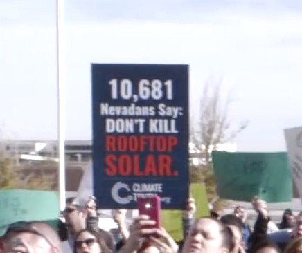 Pro Solar - Protesters Demonstration - War on Buffet's Energy Monopol in Nevada_