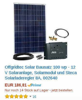OffgridTech 100W Solar Kit