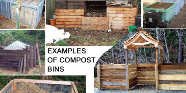 example of composting bins