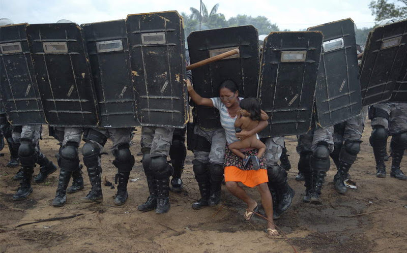 Farmers without Land demostration amazonas