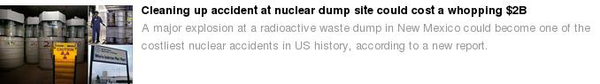 Nuklearunfall Mexiko Aufräumkosten 2 Milliarden USD