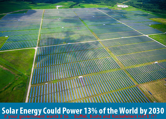 Solar Energy Could Power 13percent of the World by 2013 - if your government wants it to - Solar13