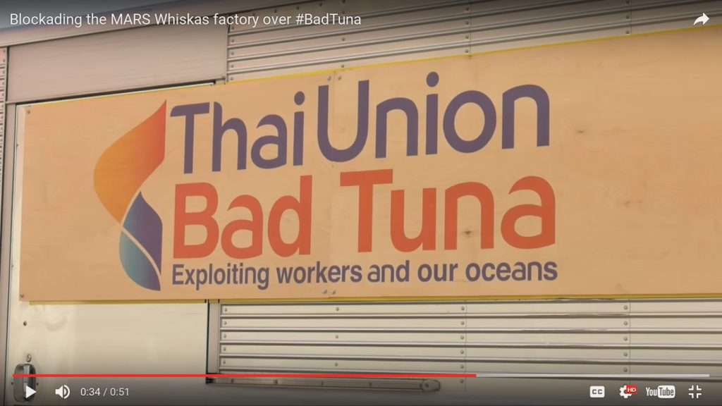 Greenpeace Blockading the MARS Whiskas factory over BadTuna 19.5.2016_Thai_Union_Exploiting_workers_and_our_oceans