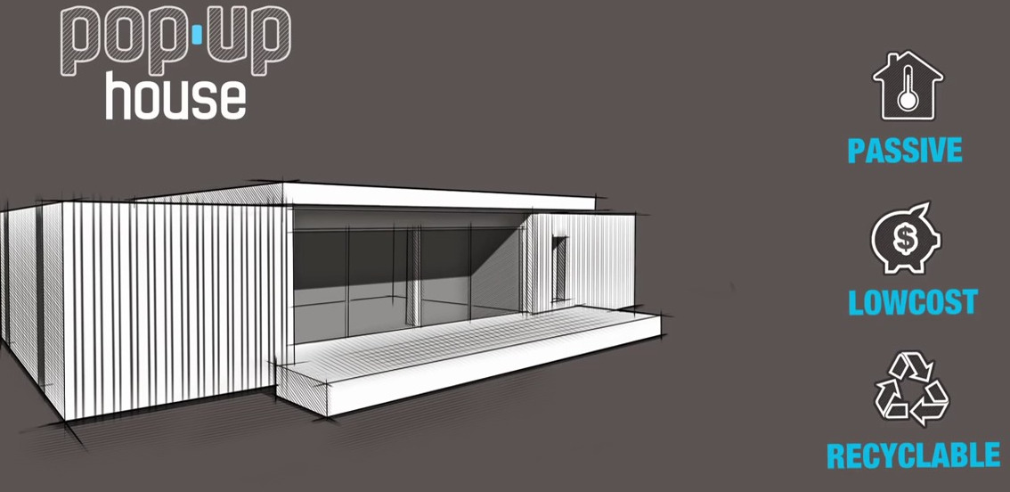 pop up haus pop up house 10 prefabs by multipod studio fertighaus light das popup house popup. Black Bedroom Furniture Sets. Home Design Ideas