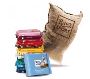 mal was positives rittersport jute sack recycling als. Black Bedroom Furniture Sets. Home Design Ideas