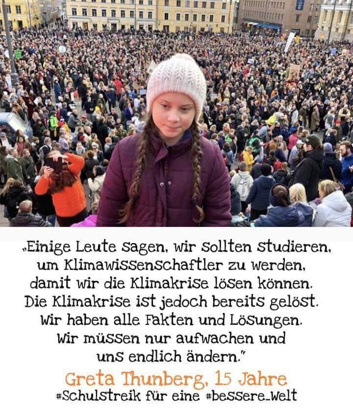sehr zu empfehlen (auf Englisch) Interview Greta mit DemocracyNow! https://www.democracynow.org/2019/9/11/greta_thunberg_swedish_activist_climate_crisis